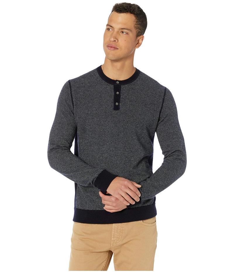 ヴィンス メンズ ニット・セーター アウター Birdseye Henley Light Sweater Coastal/Pearl