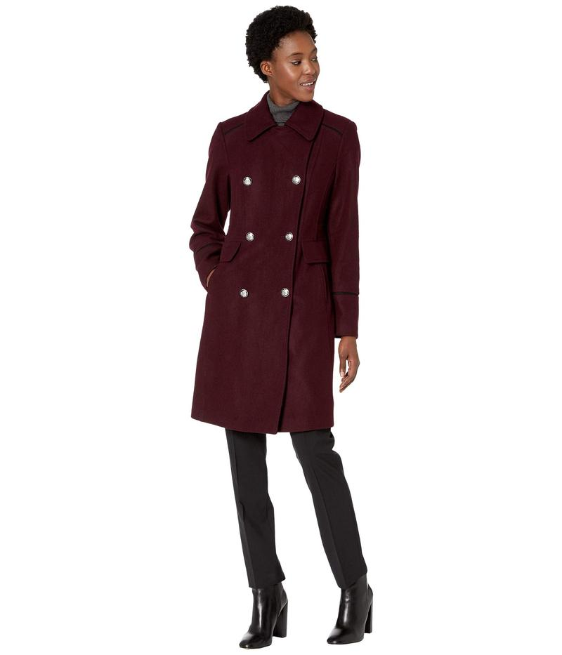 ヴィンスカムート レディース コート アウター Double Breasted Wool Coat V29768 Port Royale