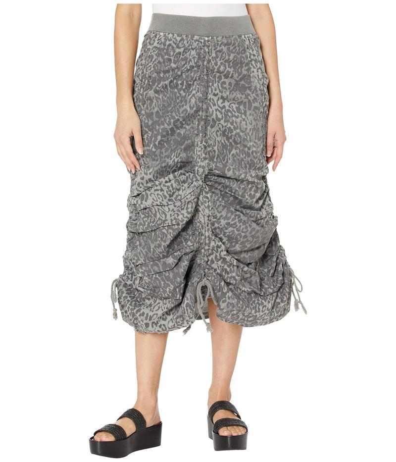 エックスシーブイアイ レディース スカート ボトムス Leopard Maxi Skirt in Lynx Printed Poplin Grey Mist