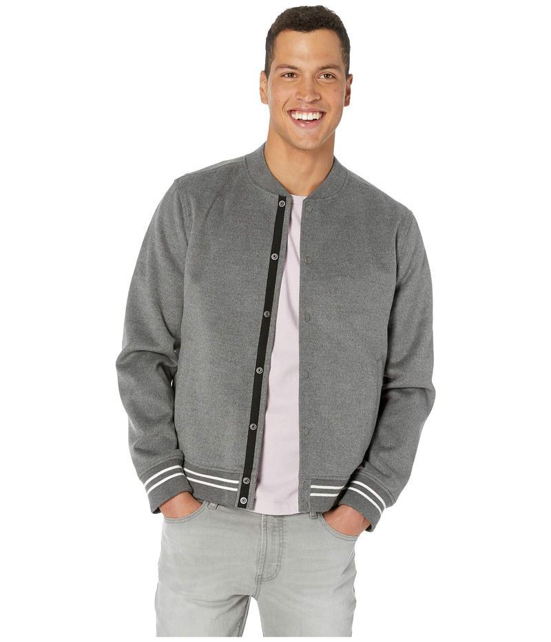 ヴィンス メンズ コート アウター Soft Varsity Jacket Heathered Sliver Grey