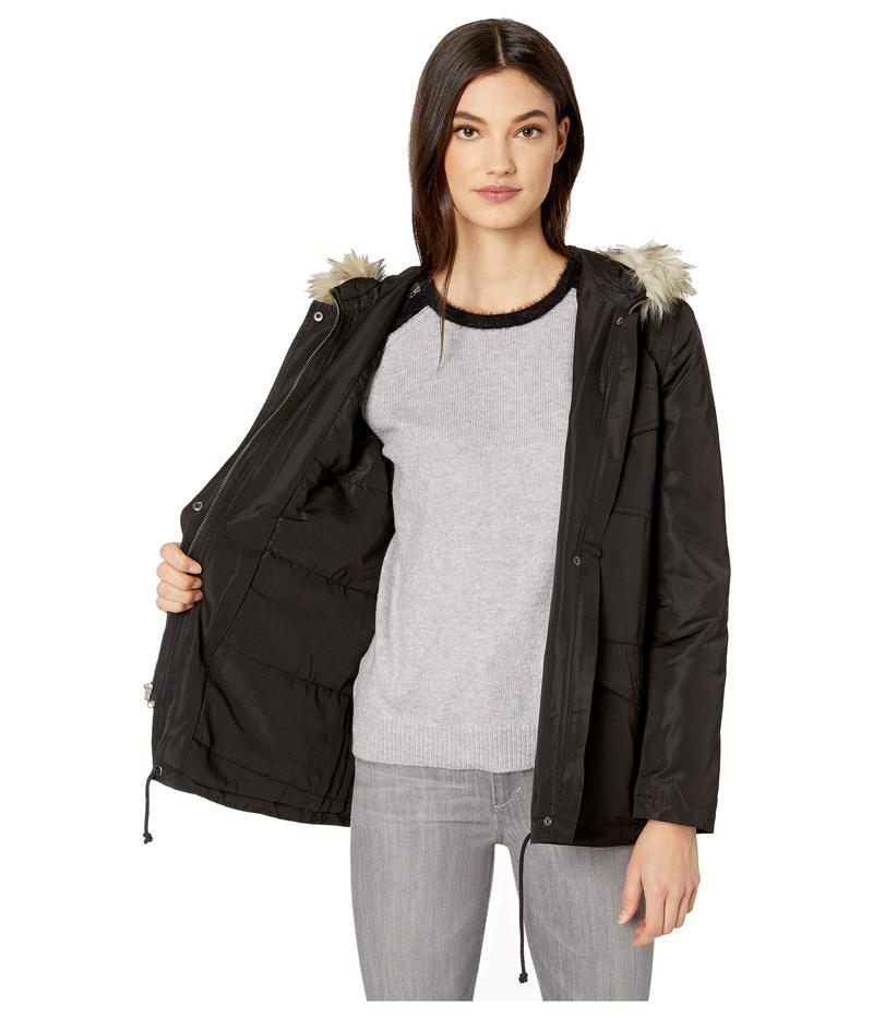 ビービーダコタ レディース コート アウター 6th Element Water Repellent Nylon Twill Jacket with Removable Fur Trim Hood Black