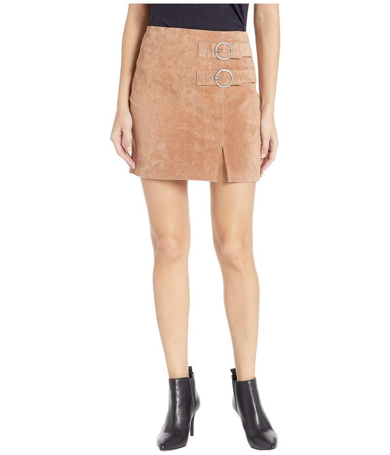 ブランクニューヨーク レディース スカート ボトムス Suede Skirt with Double Buckle in Hazelnut Hazelnut