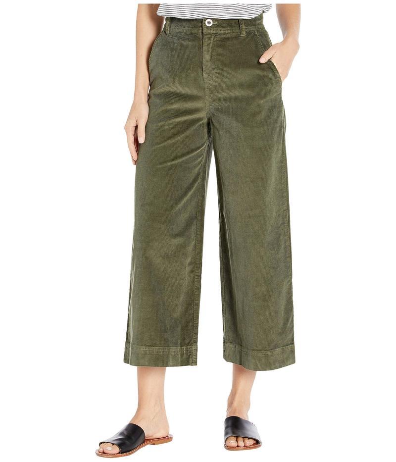 ベラダール レディース カジュアルパンツ ボトムス Stretch Cord Wide Leg Crop Trousers Woodland Olive