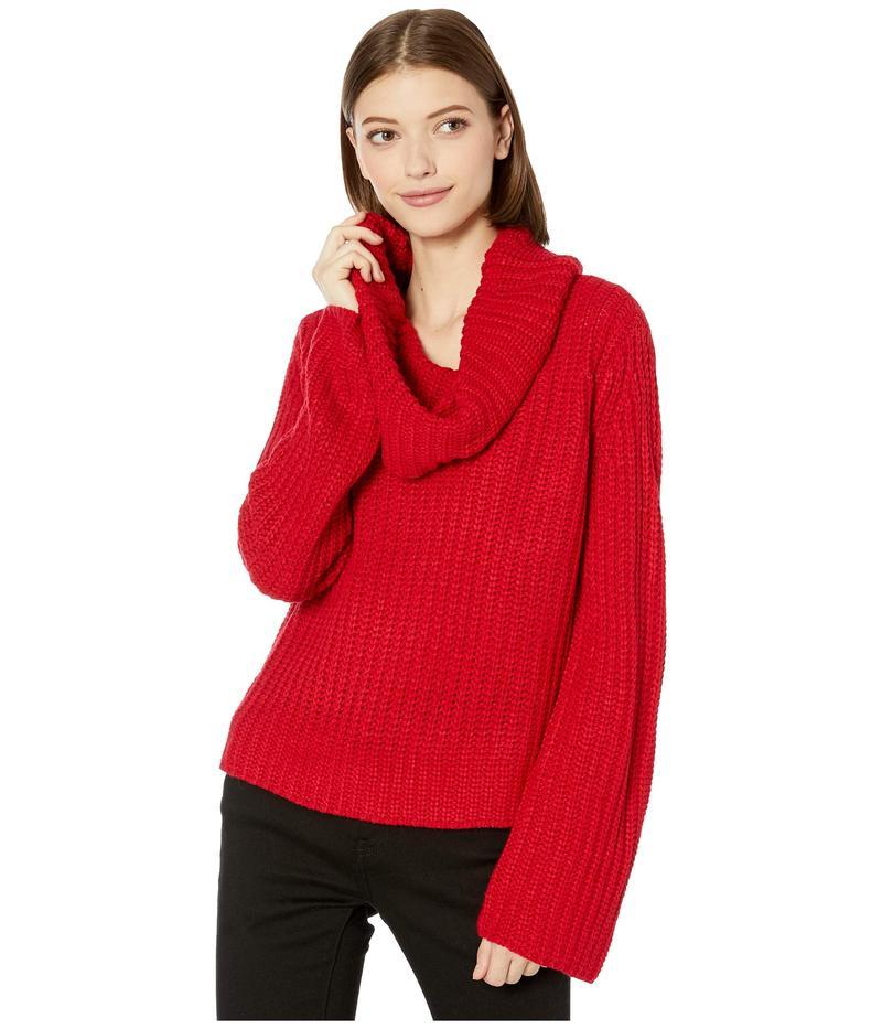 ビービーダコタ レディース ニット・セーター アウター Love Actually Cowl Neck Sweater Bright Red