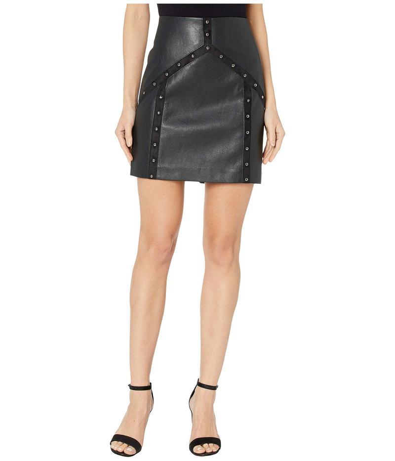 ビーシービージーマックスアズリア レディース スカート ボトムス Faux Leather Mini Skirt Black
