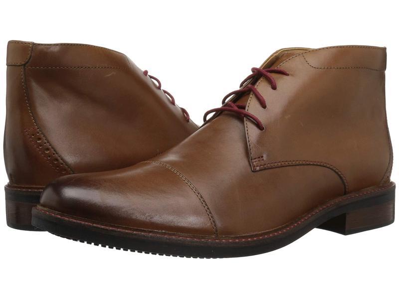 ボストニアン メンズ ブーツ・レインブーツ シューズ Maxton Mid Dark Tan Leather