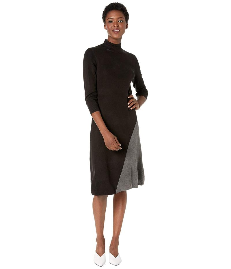 カルバンクライン レディース ワンピース トップス Color Block Angle Bottom Dress Black/Heather Charcoal