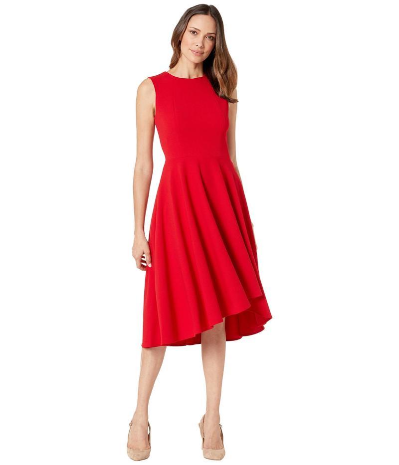 カルバンクライン レディース ワンピース トップス Sleeveless A-Line Dress Red
