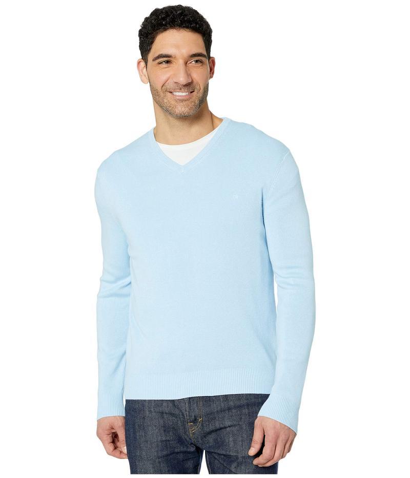 カルバンクライン メンズ ニット・セーター アウター Cotton Modal Long Sleeve V-Neck Cerulean