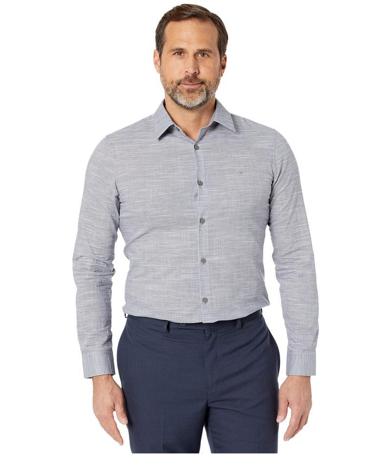 カルバンクライン メンズ シャツ トップス Long Sleeve Chambray Slub Shirt Maritime Blue