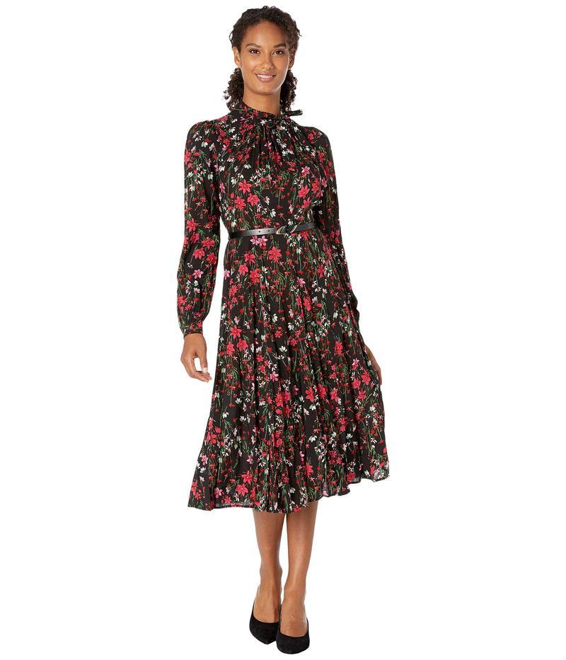 カルバンクライン レディース ワンピース トップス Belted Floral Dress Magenta Multi