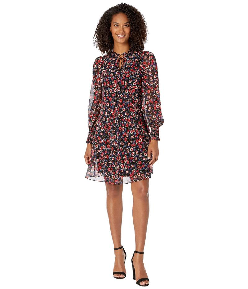 カルバンクライン レディース ワンピース トップス Floral Print Chiffon Dress Magenta Multi