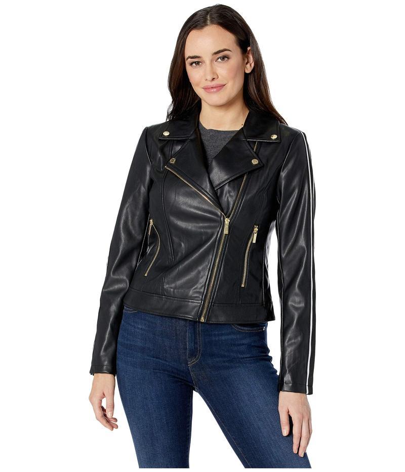 カルバンクライン レディース コート アウター Faux Leather Moto Jacket Black