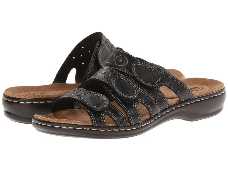クラークス レディース サンダル シューズ Leisa Cacti Q Black Leather