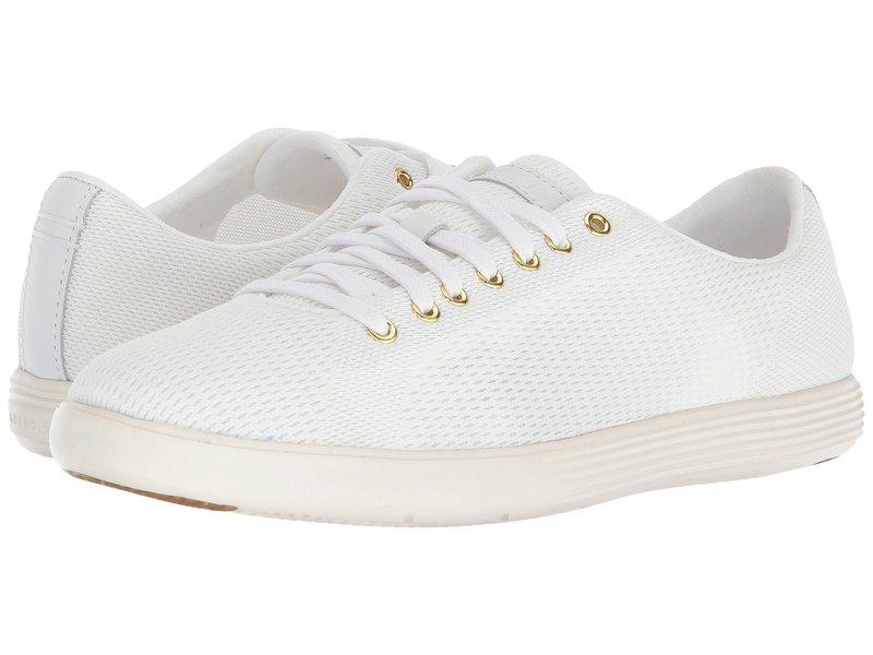 コールハーン レディース スニーカー シューズ Grand Crosscourt Knit II White Knit/Optic White