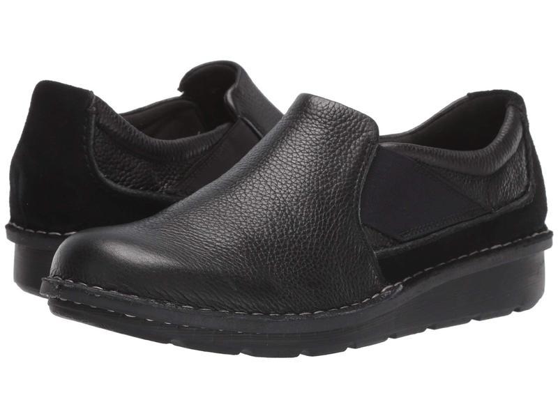 クラークス レディース スリッポン・ローファー シューズ Michela Coast Black Leather/Suede Combi