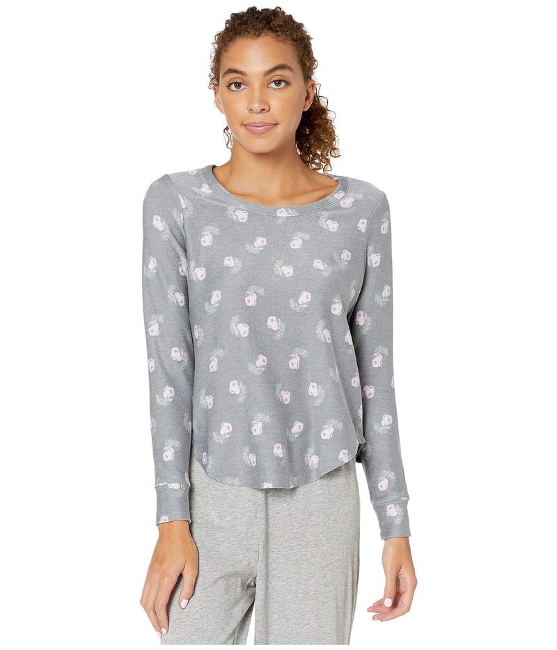 チェイサー レディース シャツ トップス Cozy Knit Shirttail Pullover Black Vintage Floral