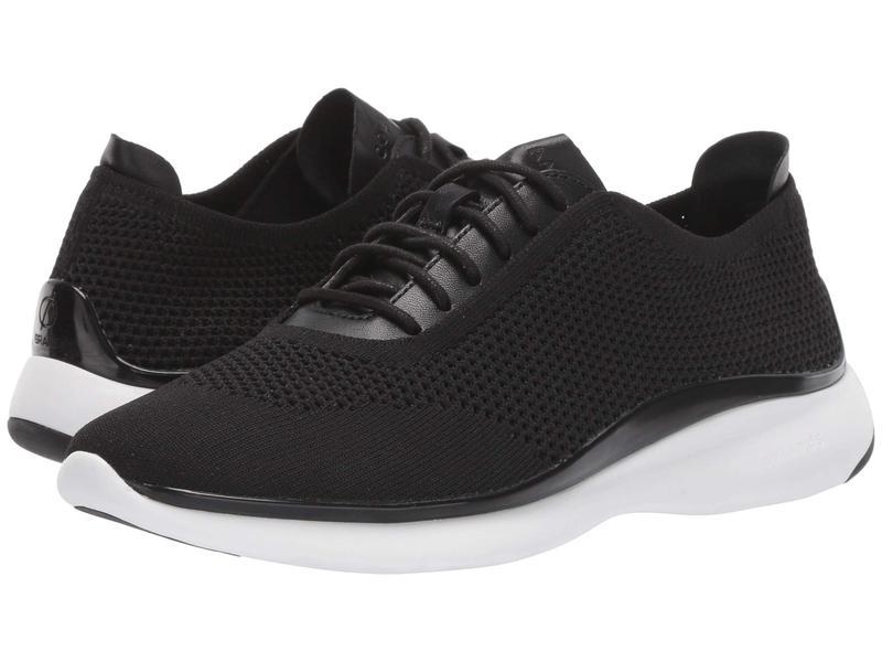 コールハーン レディース スニーカー シューズ 3.Zerogrand Stitchlite Oxford Black Knit/Black Leather/Black/Optic White