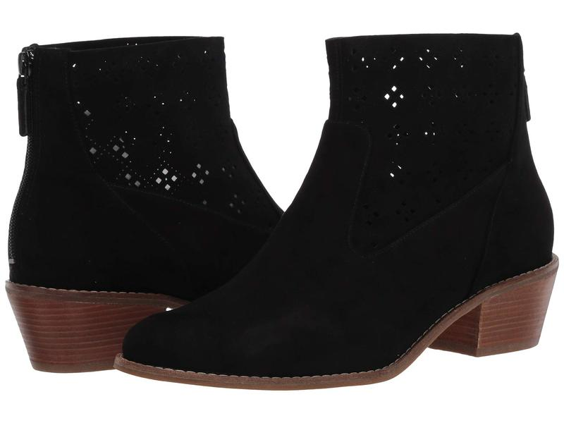 コールハーン レディース ブーツ・レインブーツ シューズ Jayne Bootie Black Suede/Perf Suede/Dark Natural Semi Shine Stack