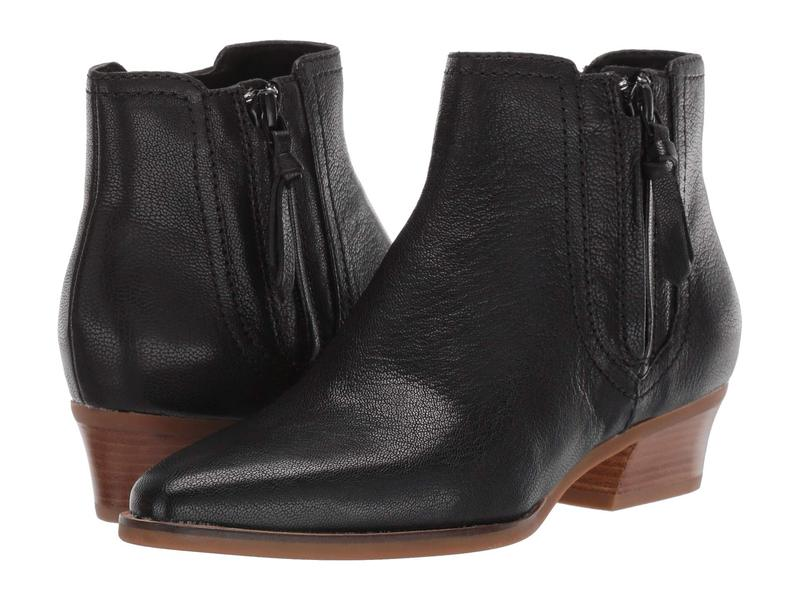 コールハーン レディース ブーツ・レインブーツ シューズ Hadlyn Bootie Black Leather/Antique Nylon Zip/Dark Natural Raw Stack