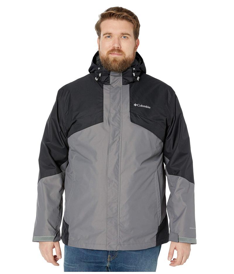 コロンビア メンズ コート アウター Big & Tall Bugaboo¢ II Fleece Interchange Jacket City Grey/Black/Nuclear/Black/City Grey Plaid