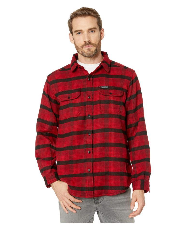 コロンビア メンズ シャツ トップス Deschutes River¢ Heavyweight Flannel Mountain Red Medium Plaid