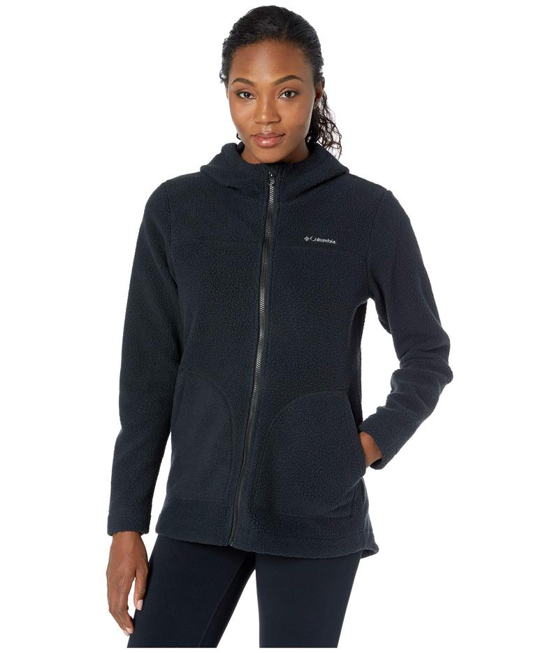コロンビア レディース コート アウター Canyon Point¢ Hooded Sherpa Full Zip Black