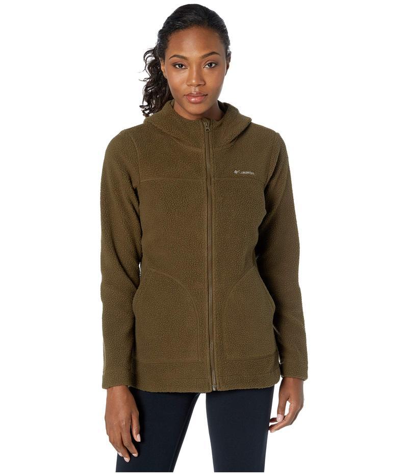 コロンビア レディース コート アウター Canyon Point¢ Hooded Sherpa Full Zip Olive Green