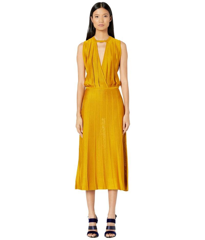 クシュニーエオクス レディース ワンピース トップス Sleeveless Midi Length Knit Dress w/ Blouson Top Antique Gold