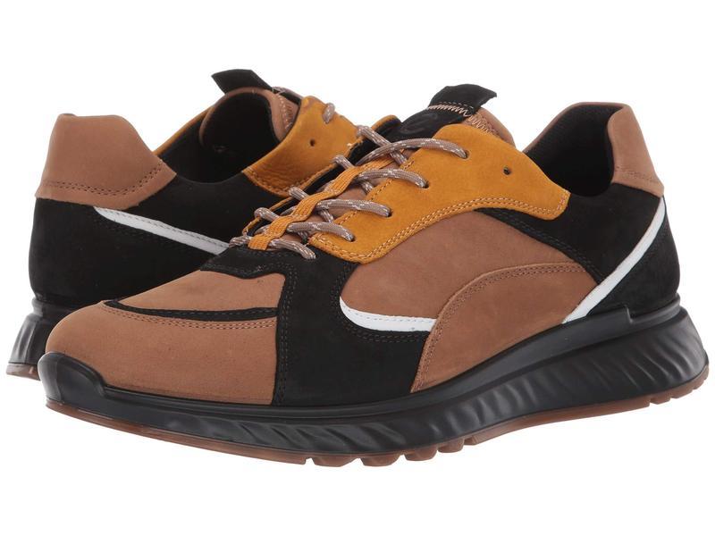 エコー メンズ スニーカー シューズ ST1 Trend Sneaker Camel/Black/White/Oak