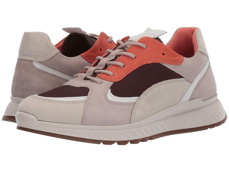 エコー レディース スニーカー シューズ ST.1 Trend Sneaker Gravel/White/Grey Rose/Apricot