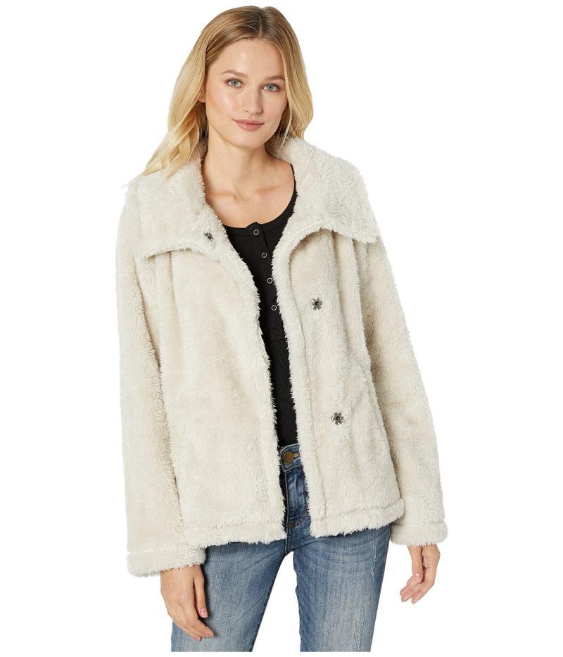 デイランバイトゥルーグリット レディース コート アウター Fleece Forever Soft Inside and Out Snap Jacket with Pockets Stone