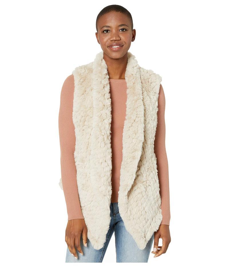 デイランバイトゥルーグリット レディース コート アウター Ultra Lux Plush Pia Knit Faux Fur Vest Natural