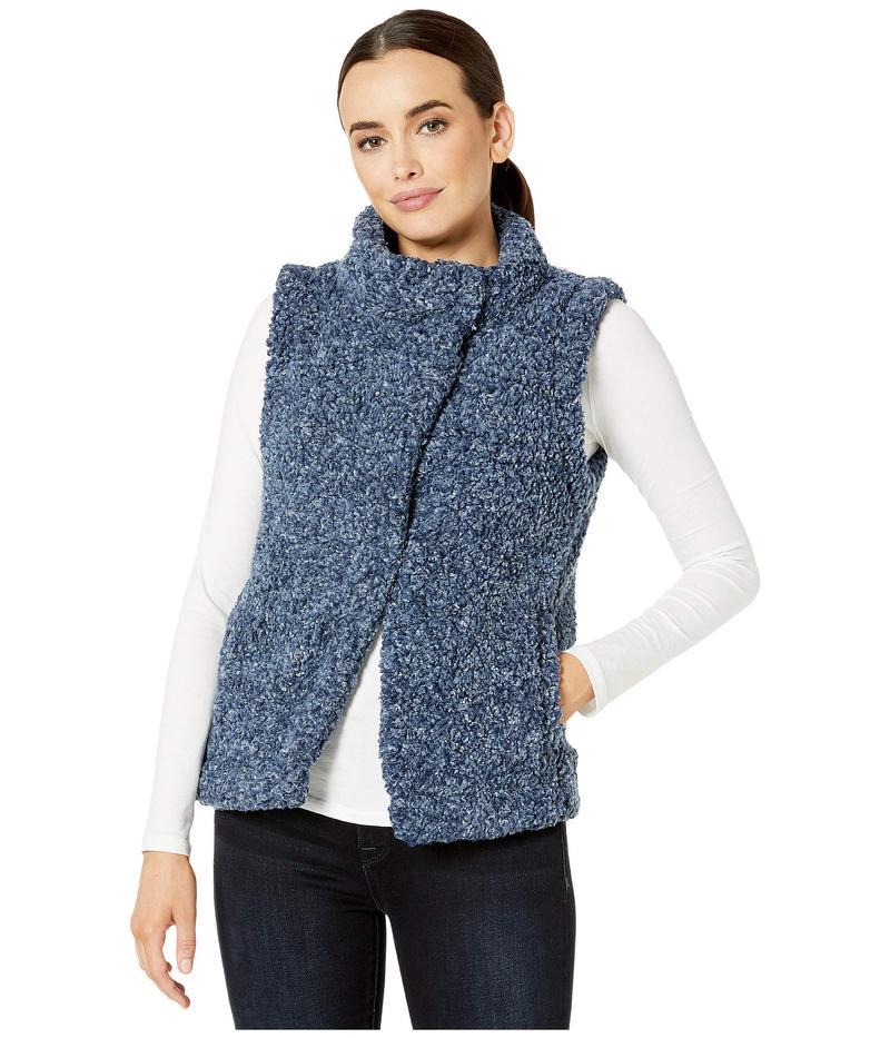 デイランバイトゥルーグリット レディース コート アウター Faux-Shearling Pile Cozy Vest with Soft Knit Lining Midnight