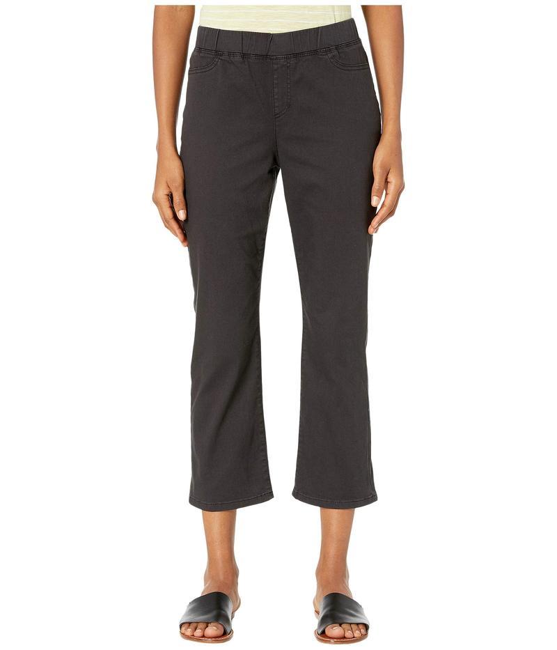 エイリーンフィッシャー レディース デニムパンツ ボトムス Garment Dyed Organic Cotton Stretch Denim Slim Knee Cropped Jeans in Washed Black Washed Black