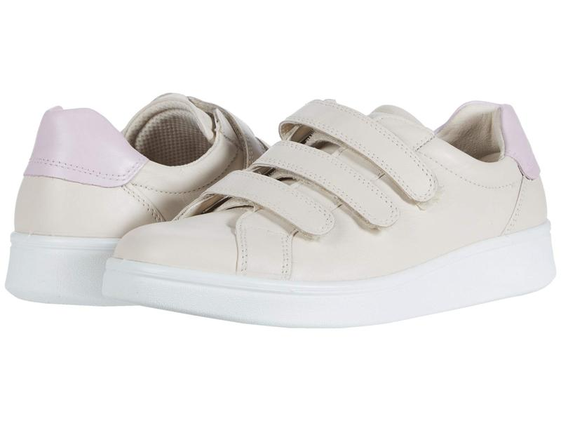 エコー レディース スニーカー シューズ Soft 4 Three Strap Sneaker Vanilla/Blossom Rose Cow Leather/Cow Leather