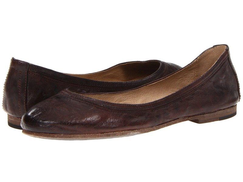 フライ レディース サンダル シューズ Carson Ballet Dark Brown Antique Soft Full Grain