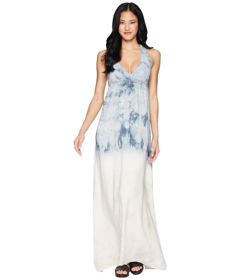 ハードテイル レディース ワンピース トップス Twisty Back Maxi Dress Crystal Dip-Dye 2