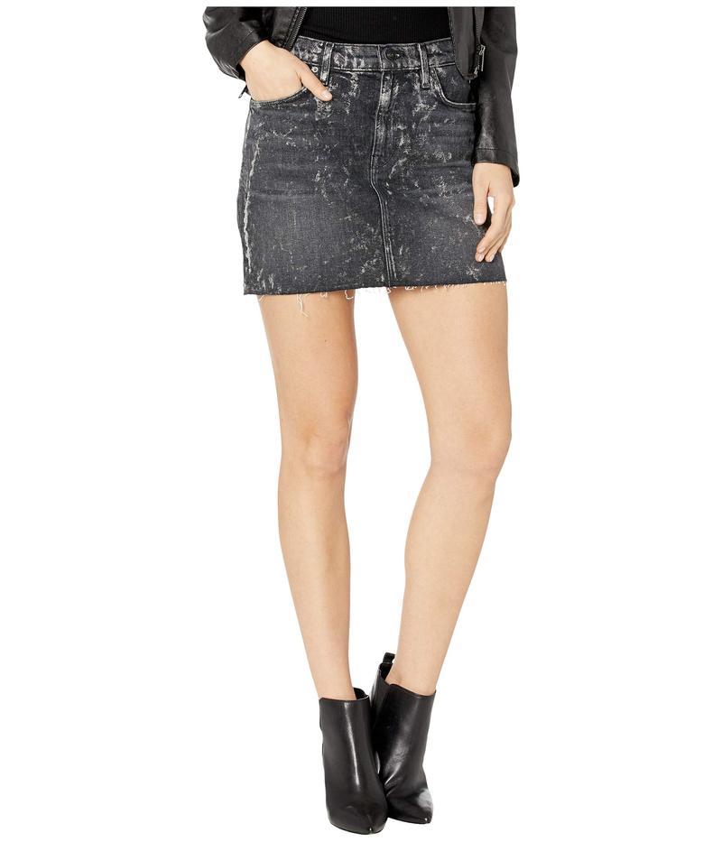 ハドソンジーンズ レディース スカート ボトムス Viper Skirt in Blackened Metallic Blackened Metallic