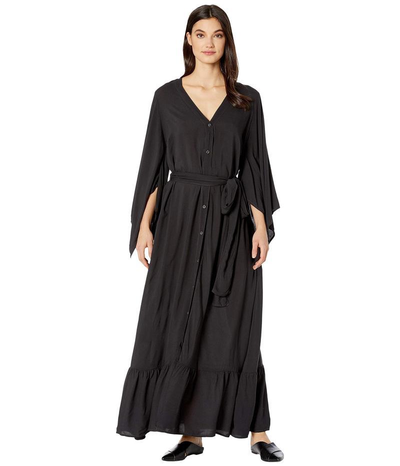 ハードテイル レディース ワンピース トップス Kimono Dress Raven