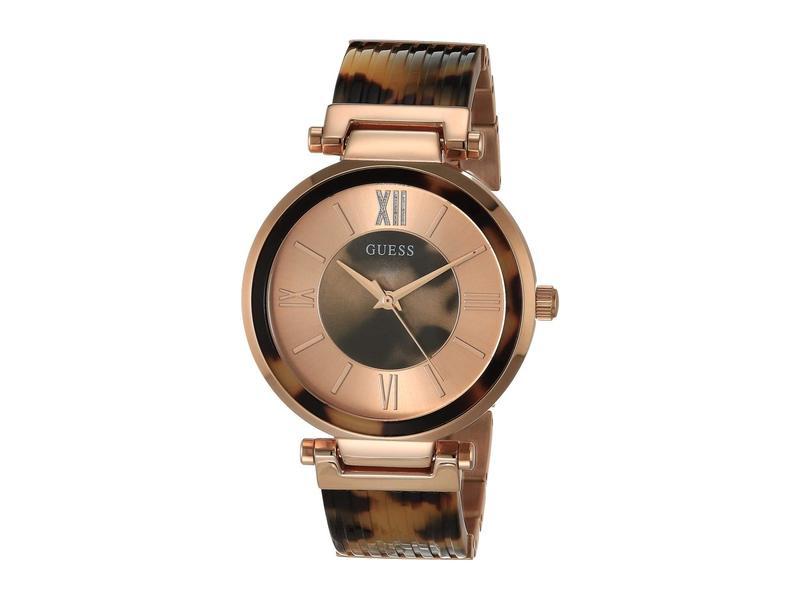 ゲス レディース 腕時計 アクセサリー W0638l8 Rose Gold/Tortoise