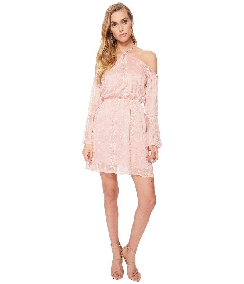 ジェイオーエー レディース ワンピース トップス Flare Sleeve Cold Shoulder Dress Pink