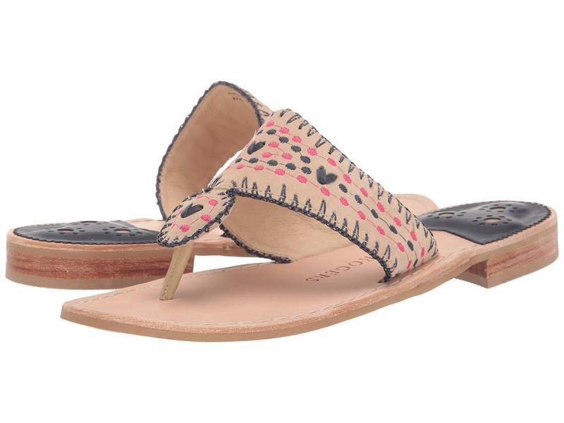 ジャックロジャース レディース サンダル シューズ Jacks Crochet Flat Sandal Sand