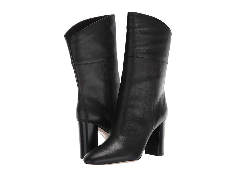 ジェイクルー レディース ブーツ・レインブーツ シューズ Leather Mid-Calf Stacked Anya Boot Black