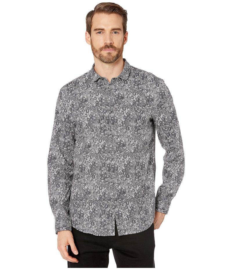 ジョンバルベイトス メンズ シャツ トップス Slim Fit Shirt with Wire Inserted Stand Collar W523V4 Black/White