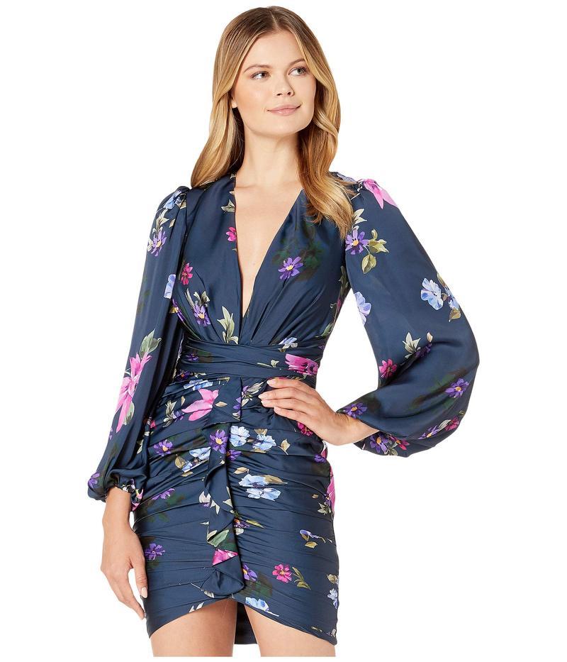 ジルスチュアート レディース ワンピース トップス Faux Wrap Mini Dress Blue Multi