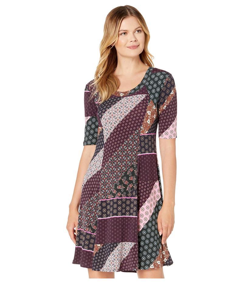 カレンケーン レディース ワンピース トップス Seamed A-Line Dress Print