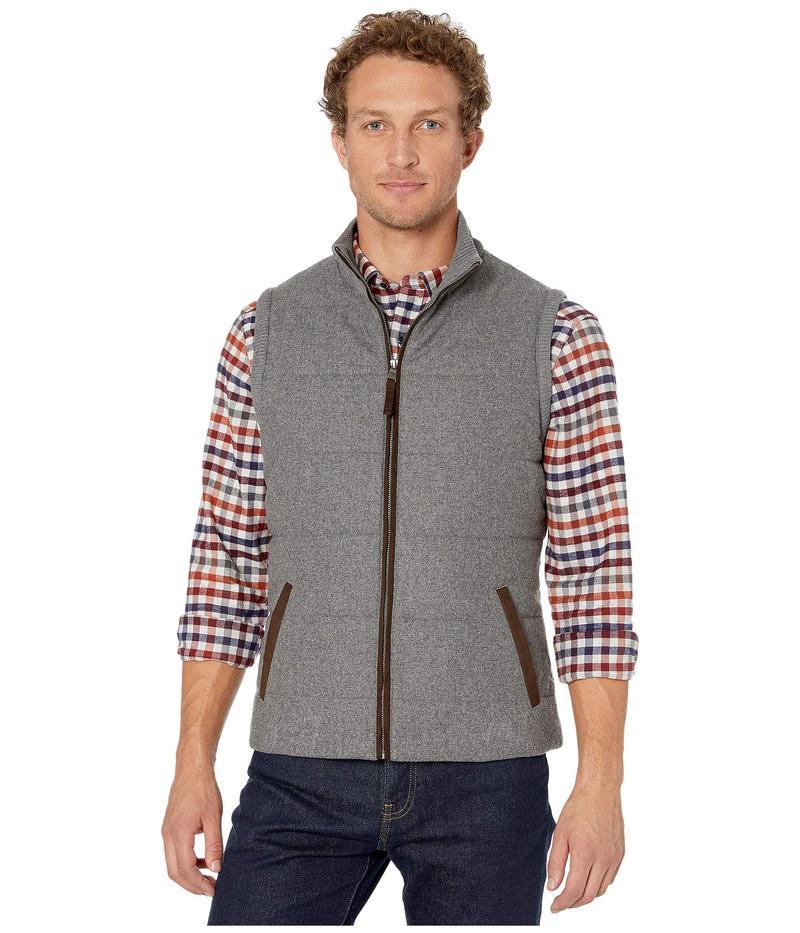 ジョンストンアンドマーフィー メンズ コート アウター Quilt Knit Trim Vest Gray