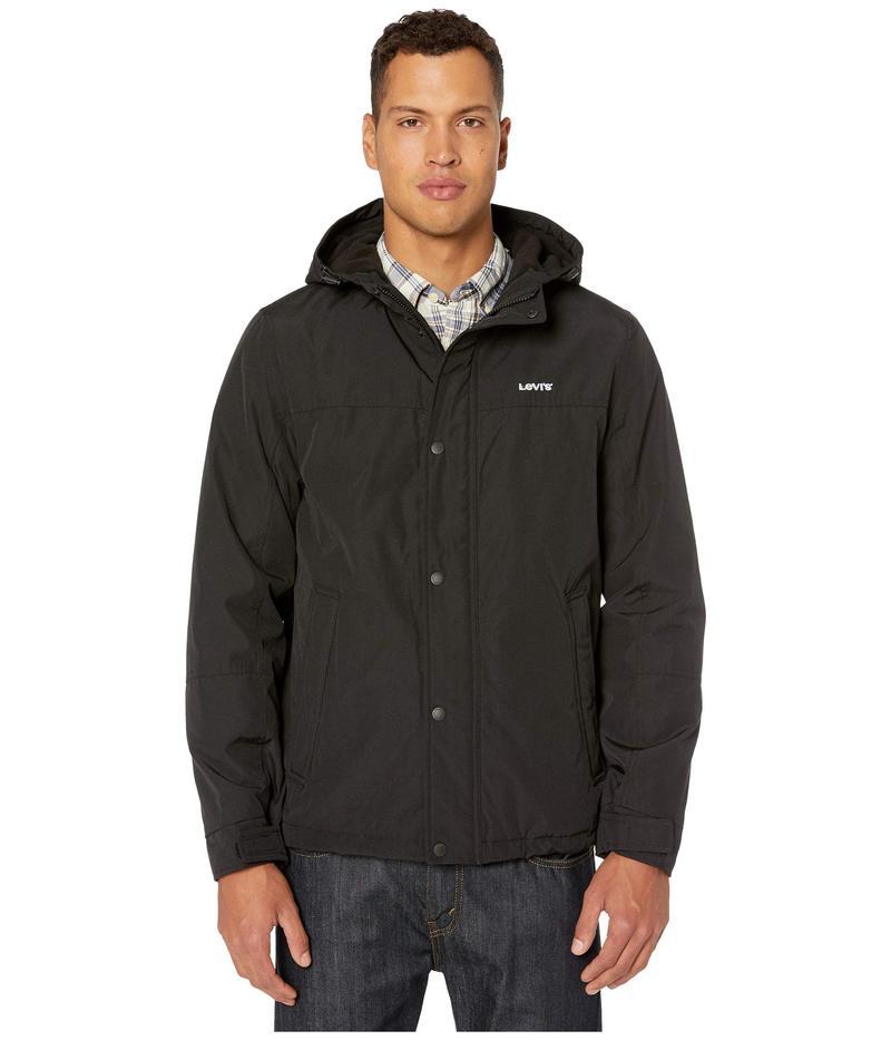 リーバイス メンズ コート アウター Rain Shell Jacket w/ Fleece Lining Black/Black