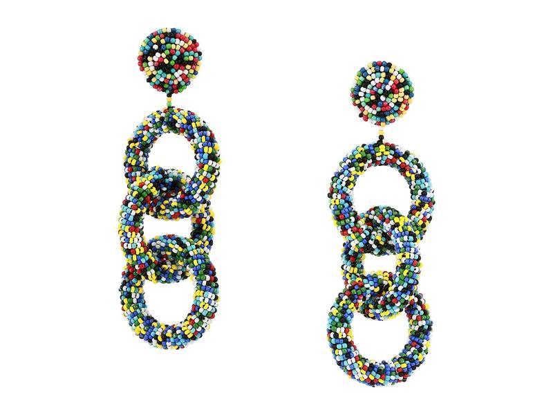 ケネスジェイレーン レディース ピアス・イヤリング アクセサリー Light Multicolor Seedbead Three Rings Post Earrings Light Multicolor